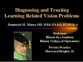 Diagnosing Learning Related Vision ...