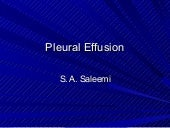 Diagnostic value of pleural effusion