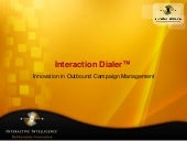 Dialer 3 0 innovation in outbound c...
