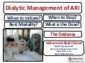 Dialytic Management of AKI