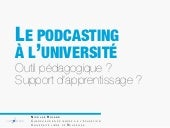Le podcasting à l'université : outi...