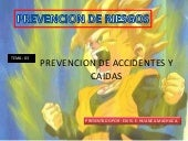 PREVENCION DE CAIDAS Y ACCIDENTES