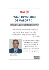 DIA, ¿una inversion de valor? (II) ...