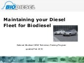 Diesel maintenance for your fleet