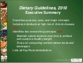 USDA Dietary Guidelines 2010 abridged