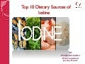 Top 10 Dietary sources of iodine