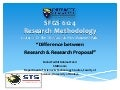 Difference between Research & Proposal Research