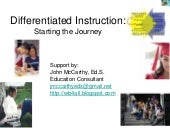 Differentiated Instruction Overview...
