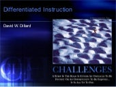Differentiated instruction web one