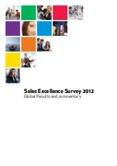 Global sales excellence study 2012 analysis