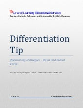Differentiation tip  questioning st...