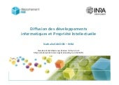 Diffusion des developpements inform...