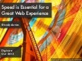Speed is Essential for a Great Web Experience