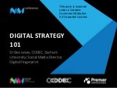 Digital Strategy 101 for #CNMAC13