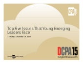 Top Five Issues Young Emerging Leaders Face - Digital CPA 2015, Las Vegas