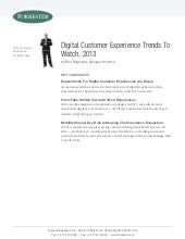 Digital customer experience trends ...