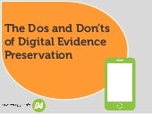D4 | The Dos and Don'ts of Digital Evidence Preservation