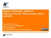Digital Fabrication Studio 0.3 Fabb...