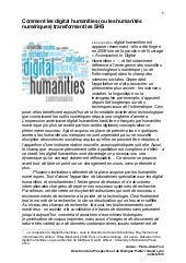 Comment les digital humanities (ou ...