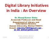 Digital Library Initiatives in  Ind...