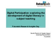Digital literacy and digital partic...