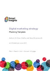 Digital Marketing Plan Template