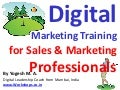 Digital Marketing Training for Sales & Marketing Professionals