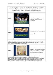 Digital Storytelling Handout (4th F...