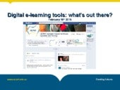 Digital Tools - What's out there?