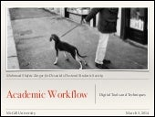 Academic Workflow: Digital Tools & ...