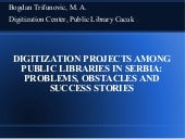 Digitization projects among public ...