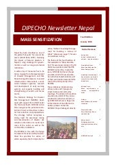 Dipecho v news letter  4th edition-...