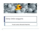 Dirty Little Snippets - SEO Campixx 2014 - Slides zum Vortrag