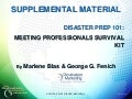 Supplemental Materials - Are You Ready? Disaster Prep for Meeting, Convention, and Trade Show Professionals