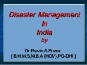 Disaster mgmt
