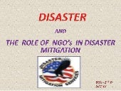 Disaster mitigation