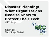 Disaster planning from TechSoup.org