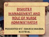 Disaster management and role of nurse