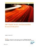 Briefing Book: SAP Digital, Social, Communities