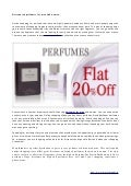 Discounted perfumes for men and women
