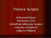 Surgery 5th year, 2nd lecture (Dr. ...