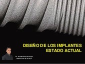 Diseño de los implantes estado actual
