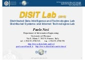 DISIT Lab overview: smart city, big data, semantic computing, cloud