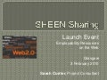 SHEEN Sharing Launch: Employability Resources on the Web