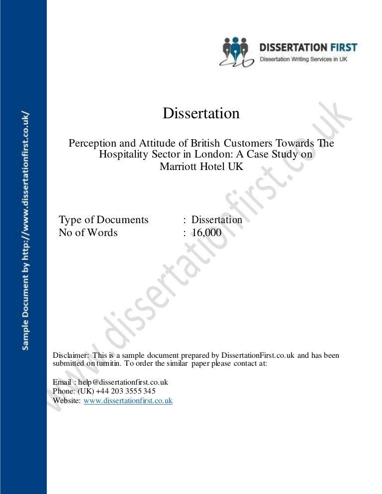Dissertation on budget hotels
