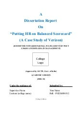 Dissertation report-on-putting-hr-o...