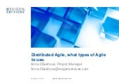 Distributed Agile, What Types of Ag...