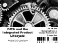 DITA and the Integrated Product Lifecycle