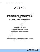 Diversification applications in por...