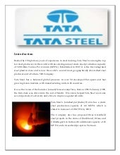TATA STEEL  ANALYSIS